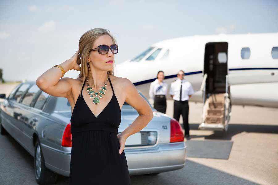 A rich woman